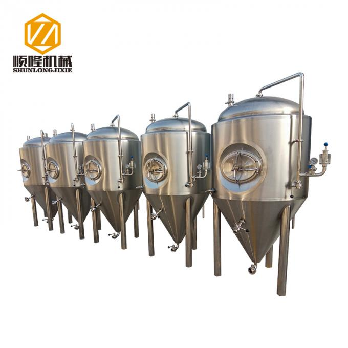 Conical Stainless Steel Fermentation Tanks Beer Storage Customized Available