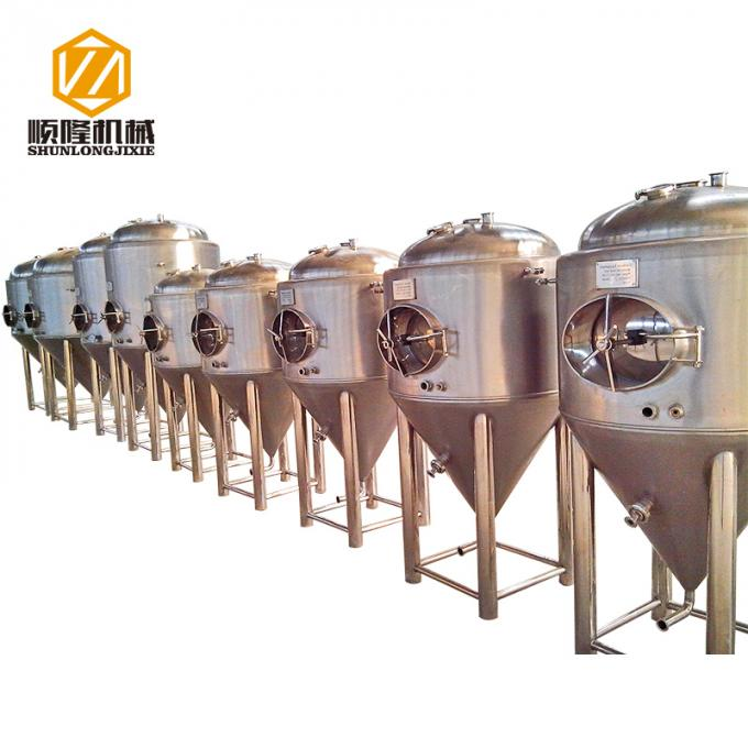Conical 100L Automatic Brewing System Stainless Steel / Red Copper Body