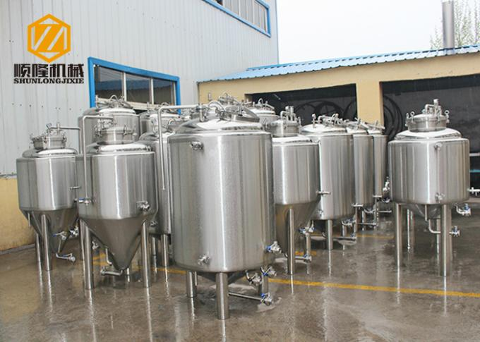 Stainless Steel Bright Beer Tank , 2HL Small Beer Brewing Tanks For Storage