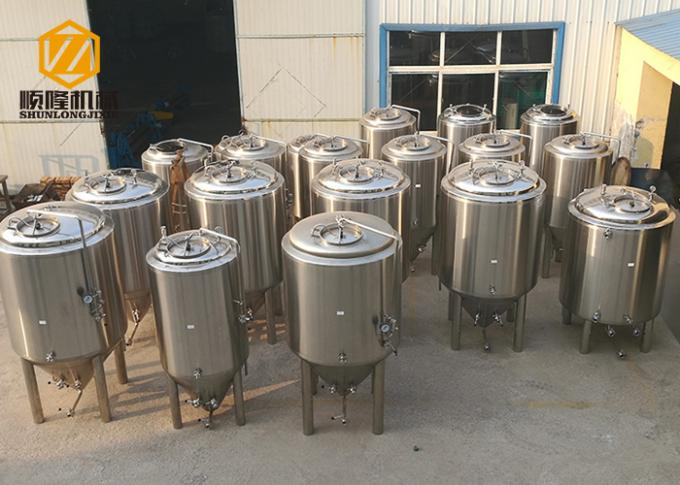 Double Wall Bright Beer Tank 500L Top Manhole With CE Certificated