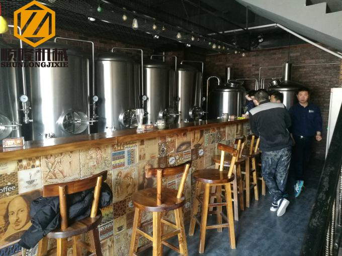 Mirror Polish Brewhouse Equipment Steam Heated For Indoor / Outdoor Use