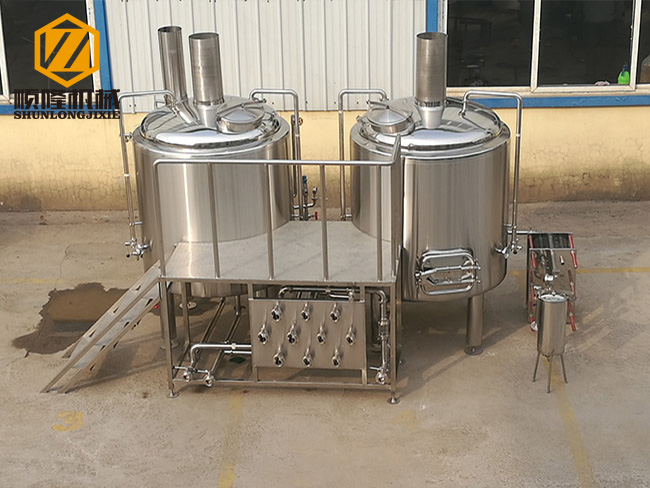 two vessles automatic brewery equipment 2000L brewhouse with fermenters