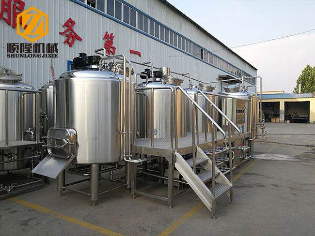 380V 2000L Beer Brewing Kit with keg washer , outdoor exhausting design