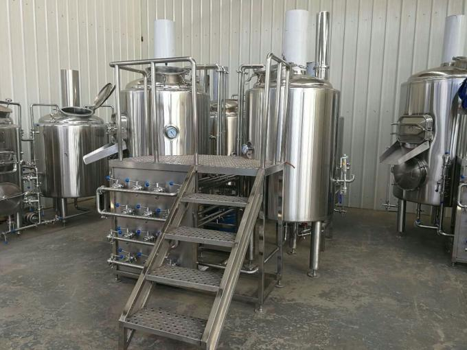 Steam Condenser Exhausting Microbrewery Brewing Equipment , Beer Distillery Equipment