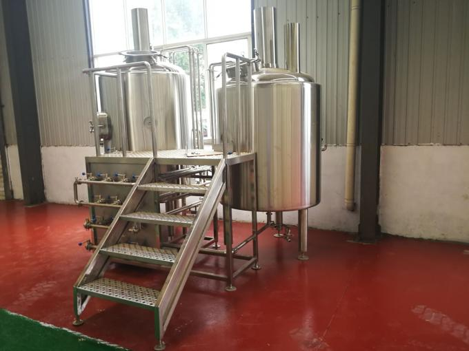 Stainless Steel 500L Craft Mini Brewery Equipment With 2 Refrigeration Machine