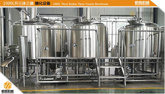 1000L Brewhouse Micro Beer Brewing Equipment Stainless Steel 304 / 316 Material