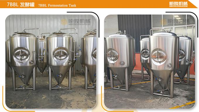 7 BBL Beer Making Equipment , Complete Microbrewery System Glycol Cooling System