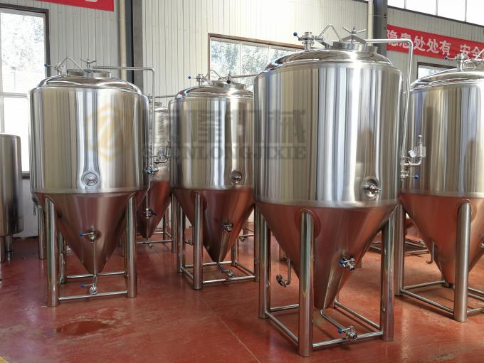 Microbrewery 500l Beer Brewing Equipment Plc Control With 2 Vessels Brewhouse