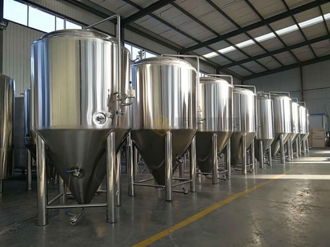 Glycol Jacketed Beer Fermentation Tanks 500l Capacity Food Grade Ss Material
