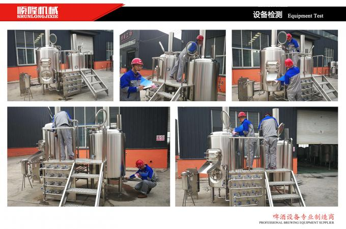 three vessels professional brewing equipment 1000L combination brewhouse with 6 fermenters