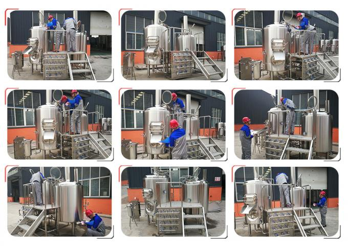 Steam Heating 1000l Beer Production Equipment Highly Automatic / Manual Operation
