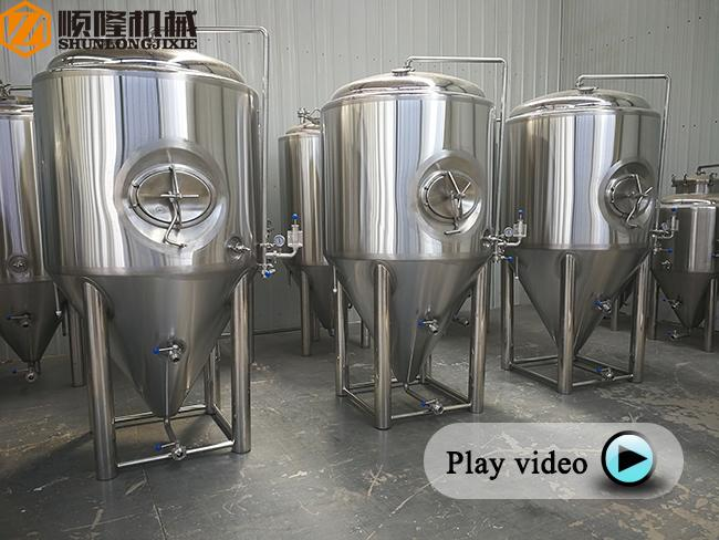 2 Bars Beer Fermentation Tanks Stainless Steel Material Double Jacket