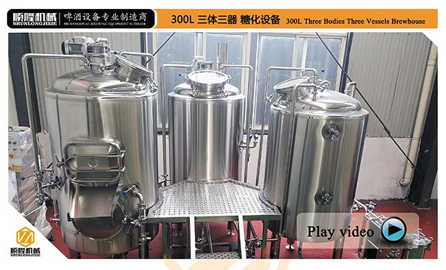 300L Pub Brewery In Line Micro Brewing Equipment For Craft Beer