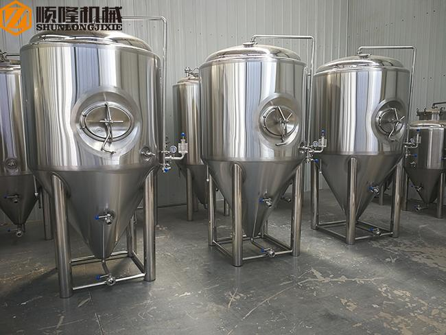 Hotel / Restaurant Micro Beer Brewing Equipment , 300l Red Copper micro brewery equipment