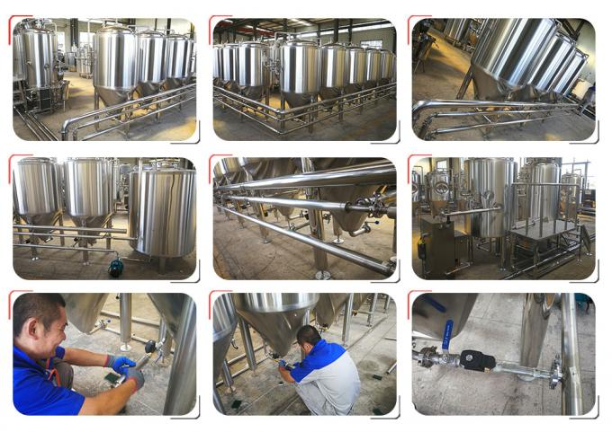Semi Automatic Stainless Steel Beer Brewing Equipment , Micro Brewery Equipment