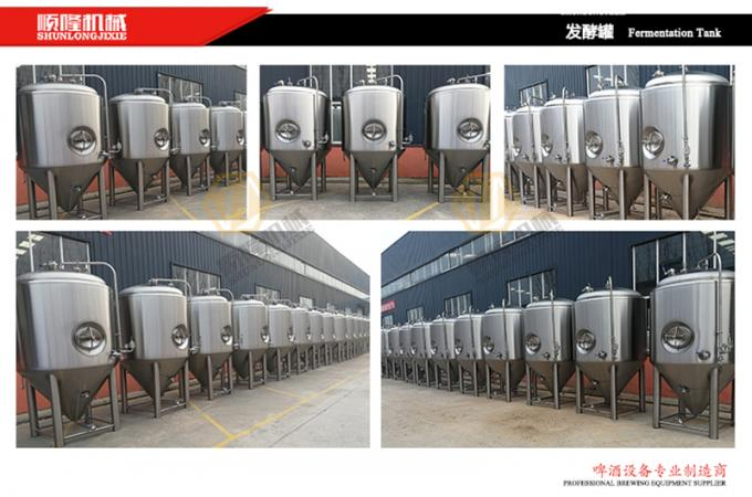 1000 L SS Micro Beer Brewing Equipment High Efficiency CE Certification