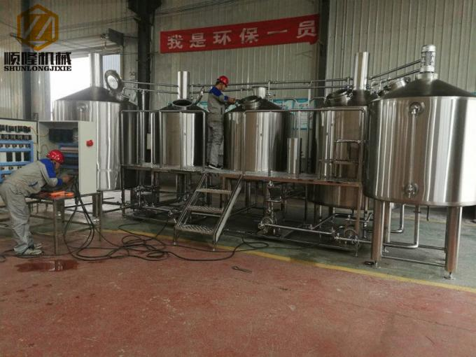 Steam Heating Micro Beer Brewing Equipment 3000l 4000l