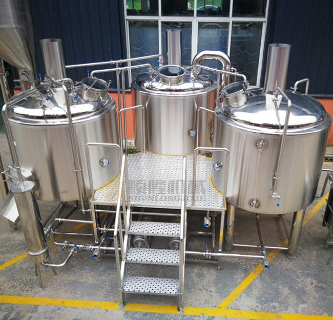 Steam Heated brewhouse Equipment 1000L Rock Wool / PU Foam Insulation