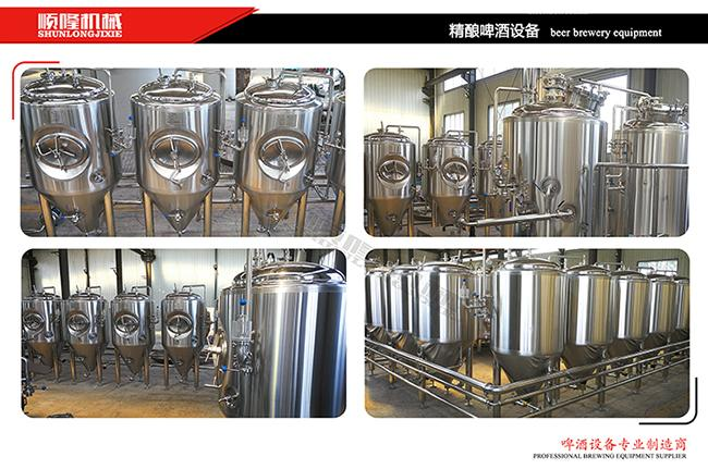 Stainless Steel Mini Brewery Equipment 500L Brewhouse 2B Finished Surface