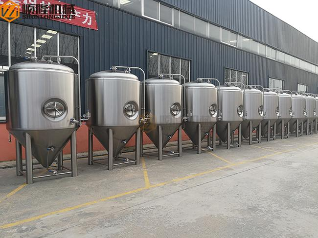 2000 Liter Beer Brewing System , Stainless Steel Beer Making System PLC Avaiable