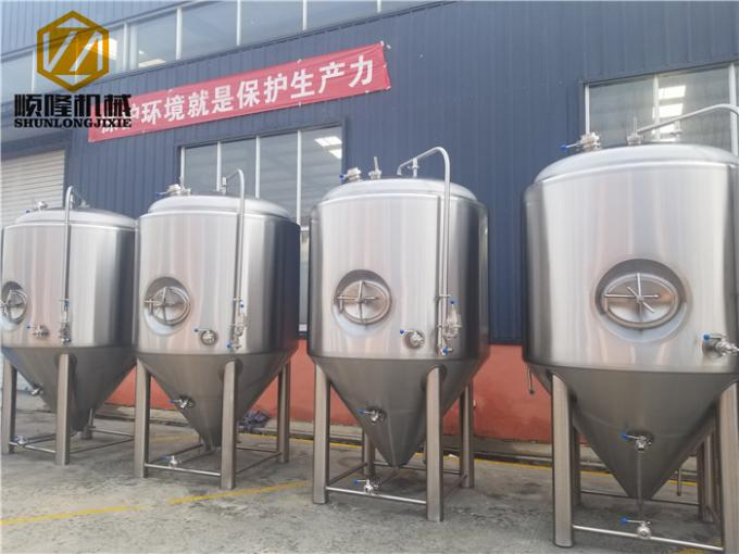 Efficiency Stainless Steel Fermentation Tank Servicing Tank For Micro Brewery , Brewpub