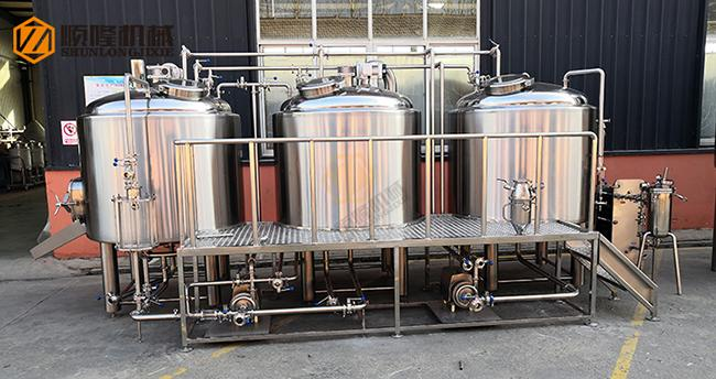 10HL Stainless Steel Beer Making Machine Semi Automatic Control With Jacket