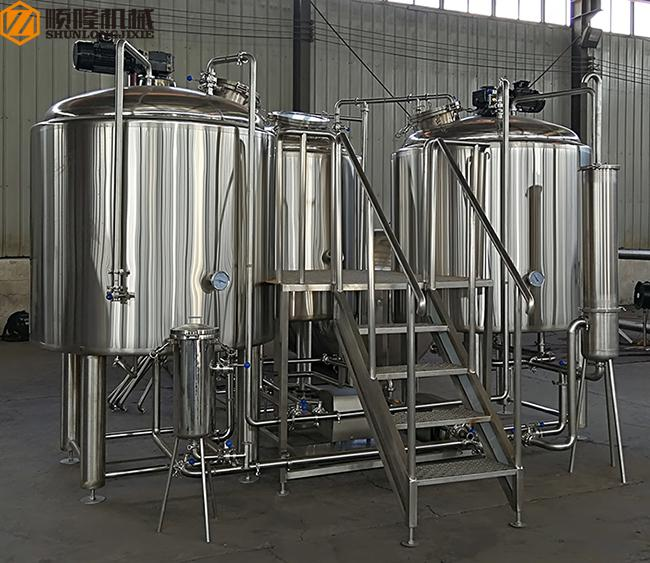 500 L Beer Brewing Kit Beer Making Equipment With Three Vessles Brewhouse