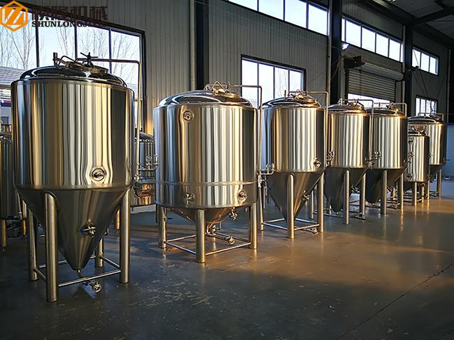 500L Stainless Steel Fermentation Tank Small Conical Fermenter 60 Degree Cone