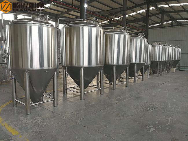 SS 5000L Beer Production Equipment Complete System 2mm Cladding