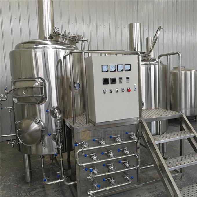 Automatic SS Beer Making Machine 5HL Brewhouse For Cider / Fruit Beer