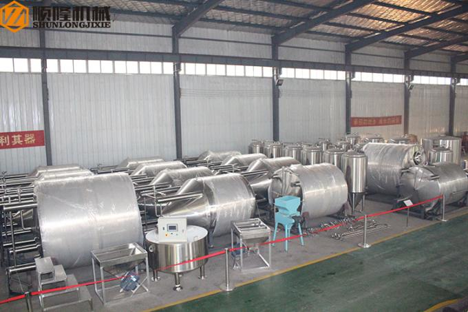 Automatic Beer Production Line 30HL PLC Control Four Vessels Brewhouse