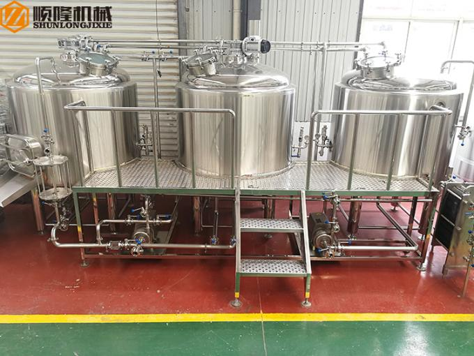 Ss Beer Microbrewery Brewing Equipment With Operation Platform For Brewpub