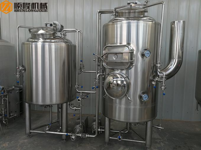 CIP System CE Passed Beer Brewing Equipment For Brewpub And Restaurant