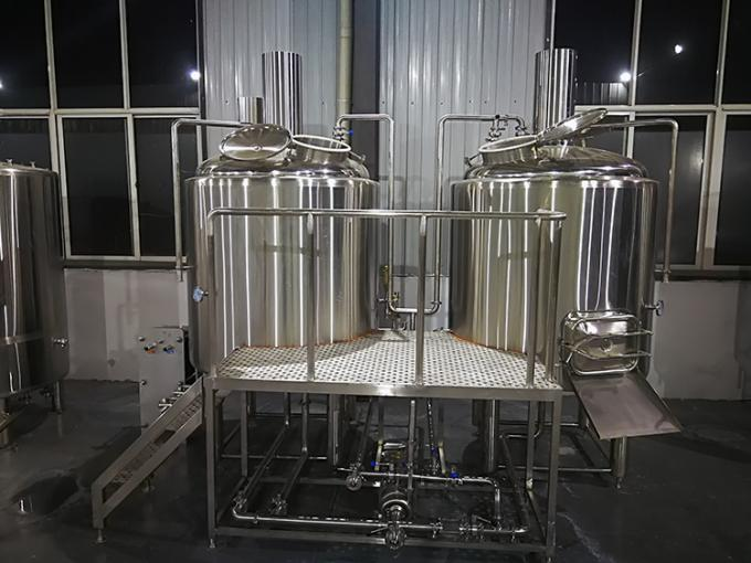 500 L Beer Brewing Equipment , Microbrewery Equipment With Two Vessels