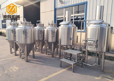 China Electric Heating Small Brewery Equipment 200L With 8 Fermentation Tanks supplier