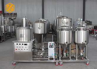 China Conical 100L Automatic Brewing System Stainless Steel / Red Copper Body supplier