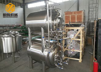 China Horizontal Bright Beer Tank Stainless Steel 2 B Surface Arc - Shaped Bottom supplier