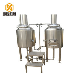 China 1BBL Pilot Professional Beer Brewing Equipment Malt Mill 100L With Brew Kettle supplier
