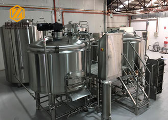 China Beer Processing Small Brewery Equipment 500L / 1000L Convenient Operation supplier