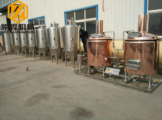 China Red Copper Fresh Beer Making Machine Steam Heating Conical Fermenter supplier