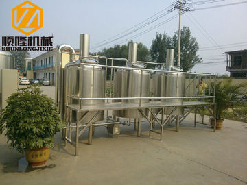 China Stainless Steel 200 Litre Brewing System 3 / Single Phase With PLC Control supplier