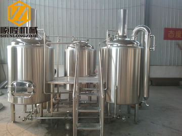 China Industrial Automatic Beer Making Machine , 500L 1000L Beer Brewing System supplier