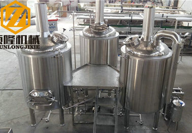 China Mash Infusion Beer Brewing Kit Food Grade Centrifugal Pump VFD With Tangent Tube supplier