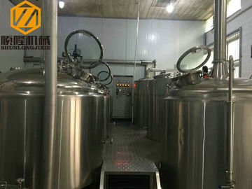 China Three Vessel Beer Brewing Kit Steam Heated ILT / Chiller Cooling Unit supplier