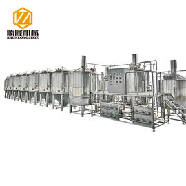 China Stainless Steel Large Beer Brewing Equipment , 5 Vessels Beer Making Equipment supplier