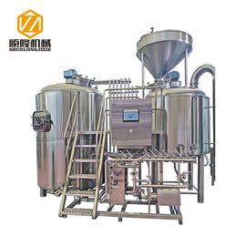 China Large Capacity Beer Distillery Equipment 3 Vessel 2500L SS / Red Copper Material supplier