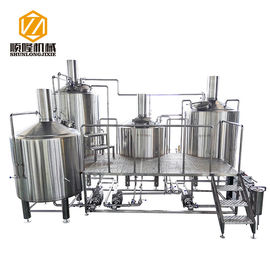China Industrial Large Beer Brewing Equipment 3 Vessel With Stout Tanks / Kettles supplier