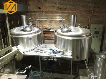 China Original Beer Production Line , Small Scale Beer Brewing Equipment With Chiller supplier