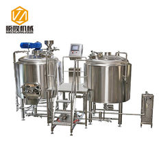 China PLC Control Large Brewing Equipment 2000L Stainless Steel Brewhouse / Fermenters supplier