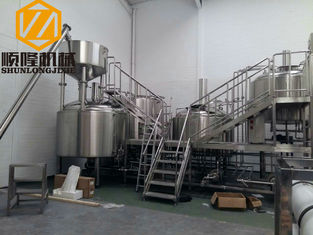 China SS 5000L Beer Production Equipment Complete System 2mm Cladding supplier